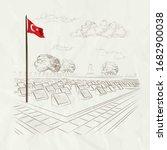 Drawing Of Turkish Flag Turkis...