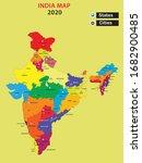popular cities in india.india... | Shutterstock .eps vector #1682900485