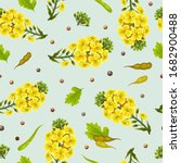 rape seeds and flowers  canola...   Shutterstock .eps vector #1682900488