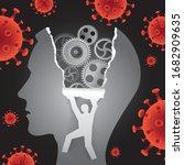 psychology mental health ... | Shutterstock .eps vector #1682909635