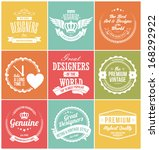 set of retro vintage badges and ... | Shutterstock .eps vector #168292922