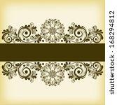 vector vintage floral ...   Shutterstock .eps vector #168294812