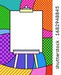 art board frame with white...   Shutterstock .eps vector #1682948845