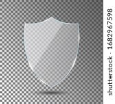 glass shield on transparent...   Shutterstock .eps vector #1682967598