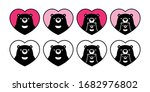 bear vector polar heart... | Shutterstock .eps vector #1682976802
