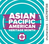 asian pacific american heritage ...   Shutterstock .eps vector #1682989588