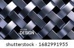 silver wicker pattern. vector...   Shutterstock .eps vector #1682991955