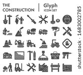 construction solid icon set.... | Shutterstock .eps vector #1683002785