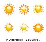 collection of vector suns | Shutterstock .eps vector #16830067