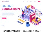 online education or distance...   Shutterstock .eps vector #1683014452