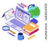 online education or distance... | Shutterstock .eps vector #1683014455