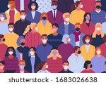 coronavirus pandemic seamless... | Shutterstock .eps vector #1683026638