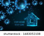 working from home  self... | Shutterstock .eps vector #1683052108