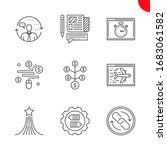 seo related line icons set. pay ... | Shutterstock . vector #1683061582