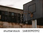 Old Basketball Hoop In An...