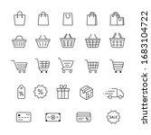 set of online store shopping... | Shutterstock .eps vector #1683104722