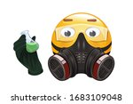 emoji in a respirator and... | Shutterstock .eps vector #1683109048
