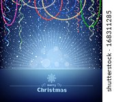 the christmas blue card with...   Shutterstock .eps vector #168311285