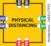 physical distancing icon. keep... | Shutterstock .eps vector #1683117952