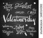 set of happy valentine's day... | Shutterstock .eps vector #168314282