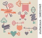 vector set with vintage keys ... | Shutterstock .eps vector #168314465