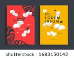 modern set posters layout with...   Shutterstock .eps vector #1683150142
