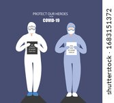 protect our heroes  doctor wear ... | Shutterstock .eps vector #1683151372
