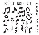 note doodle simple outline set  | Shutterstock .eps vector #1683156712