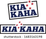 kia kaha stamps. meaning stay...   Shutterstock .eps vector #1683163198