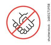 avoiding physical contact....   Shutterstock .eps vector #1683171958