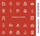 editable 22 candle icons for... | Shutterstock .eps vector #1683184858