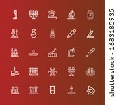 editable 25 lab icons for web... | Shutterstock .eps vector #1683185935
