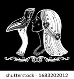 girl with plague doctor mask.... | Shutterstock .eps vector #1683202012