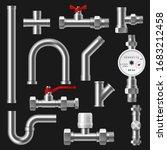 plumbing pipes  pipeline parts... | Shutterstock .eps vector #1683212458