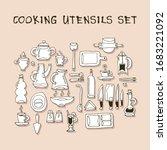 image of kitchen utensils  cups ... | Shutterstock .eps vector #1683221092