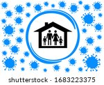 shelter in place. staying at... | Shutterstock .eps vector #1683223375