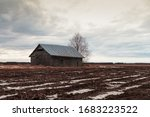 An Abandoned Barn House On The...