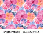 watercolor floral seamless... | Shutterstock . vector #1683226915
