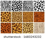 animal seamless pattern set.... | Shutterstock .eps vector #1683243232