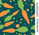 carrot pattern seamless. vector ... | Shutterstock .eps vector #1683256978