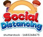 font design for word social... | Shutterstock .eps vector #1683268675