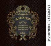 elegant vintage frame with... | Shutterstock .eps vector #168326996