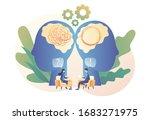psychologist consulting patient.... | Shutterstock .eps vector #1683271975
