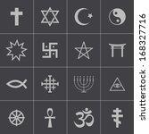 vector black religious symbols... | Shutterstock .eps vector #168327716