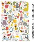 cute cartoon english alphabet... | Shutterstock .eps vector #1683288865