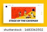 primitive people caveman family ... | Shutterstock .eps vector #1683363502