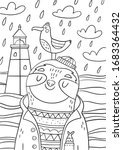 Cute Cartoon Coloring Page With ...