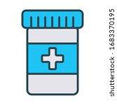 medical bottle drugs fill style ...