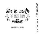 she is worth far more than... | Shutterstock .eps vector #1683406048