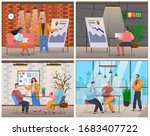 man and woman cooperation in... | Shutterstock .eps vector #1683407722